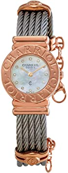 Charriol St-Tropez Mother of Pearl Zirconia Dial Women's Watch