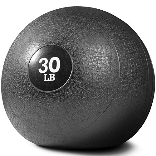 TITAN Fitness 10-60 lb Slam Spike Ball Rubber Exercise Weight Workout