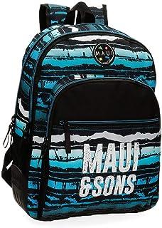 Maui and Sons Waves Mochila doble compartimento Multicolor 33x44x13,5 cms Poliéster 26.14L