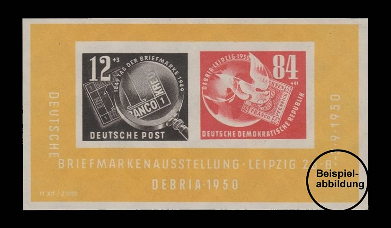 Briefmarken DDR 1950, Mi. Nr. Block7, DEBRIA, Gestempelt