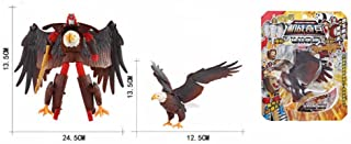 Transformer Plastic Forest Animals Figures, Jungle Eagle Transforming Robot, Party Favors Toys Supplies for Kids
