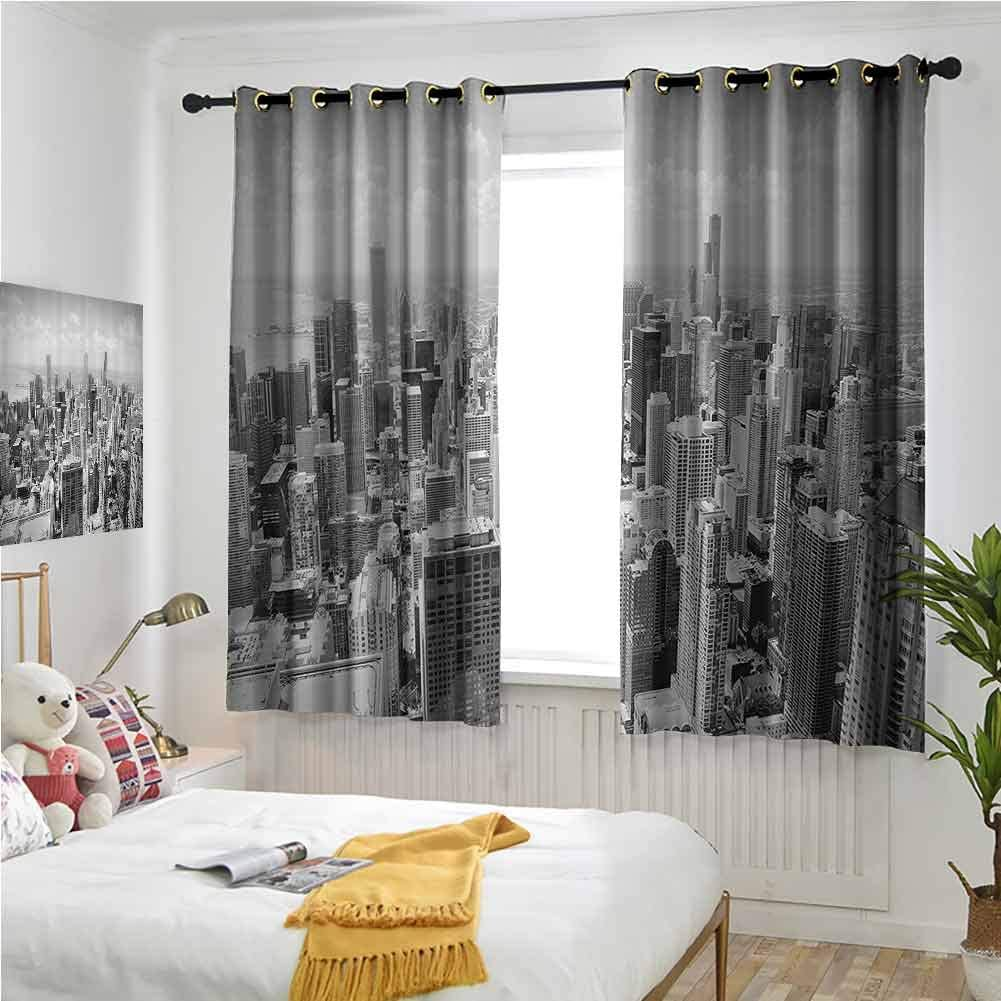 Gray Grommet Curtains 63 Inches Collection Decor Apartment Long 新作通販 新作からSALEアイテム等お得な商品 満載