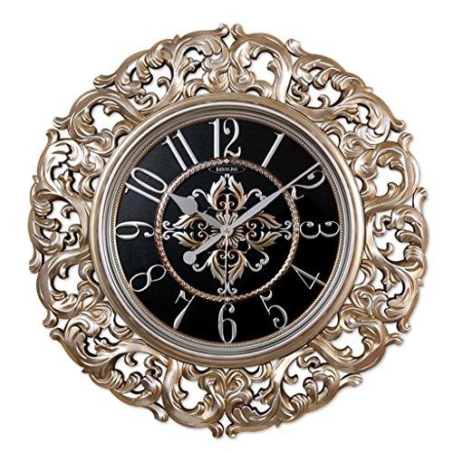 Bonne action Horloge murale Horloge murale de style européen créative Rétro Horloge murale Salon Horloge maison Horloge décorative Quiet