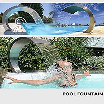 Stainless Steel Pool Fountain Outdoor Swimming Pool Waterfall Blade Cascade 400200Mm ,400300