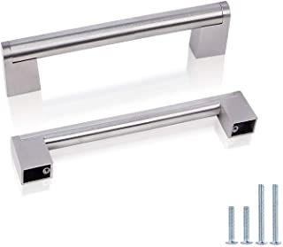 """Probrico Boss Bar Stainless Steel 14Mm Diameter Cabinet Hardware Handle Pull - 3-3/4"""" (96Mm) Hole Centers, 5-2/5"""" Overall ..."""