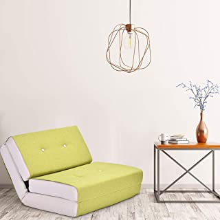 Giantex Fold Down Chair Flip Out Lounger Convertible Sleeper Bed Couch Dorm (Green)