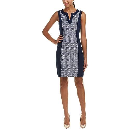 5e3616c2 Tahari by ASL Womens Two-Tone Sheath Dress