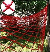 防護柵織ロープネット、飾り縄ネット、児童防護ネットバルコニー安全ネット、階段落下防止、屋外フェンスネット、間仕切り、遊び場クライミングネット(red1x3M)