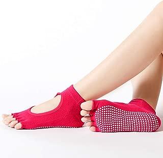 BHCsports Women's Non-Slip Yoga Socks, No Toe Slip Pilates, Ballet, Ballet, Bikram Fitness Garter Grip.