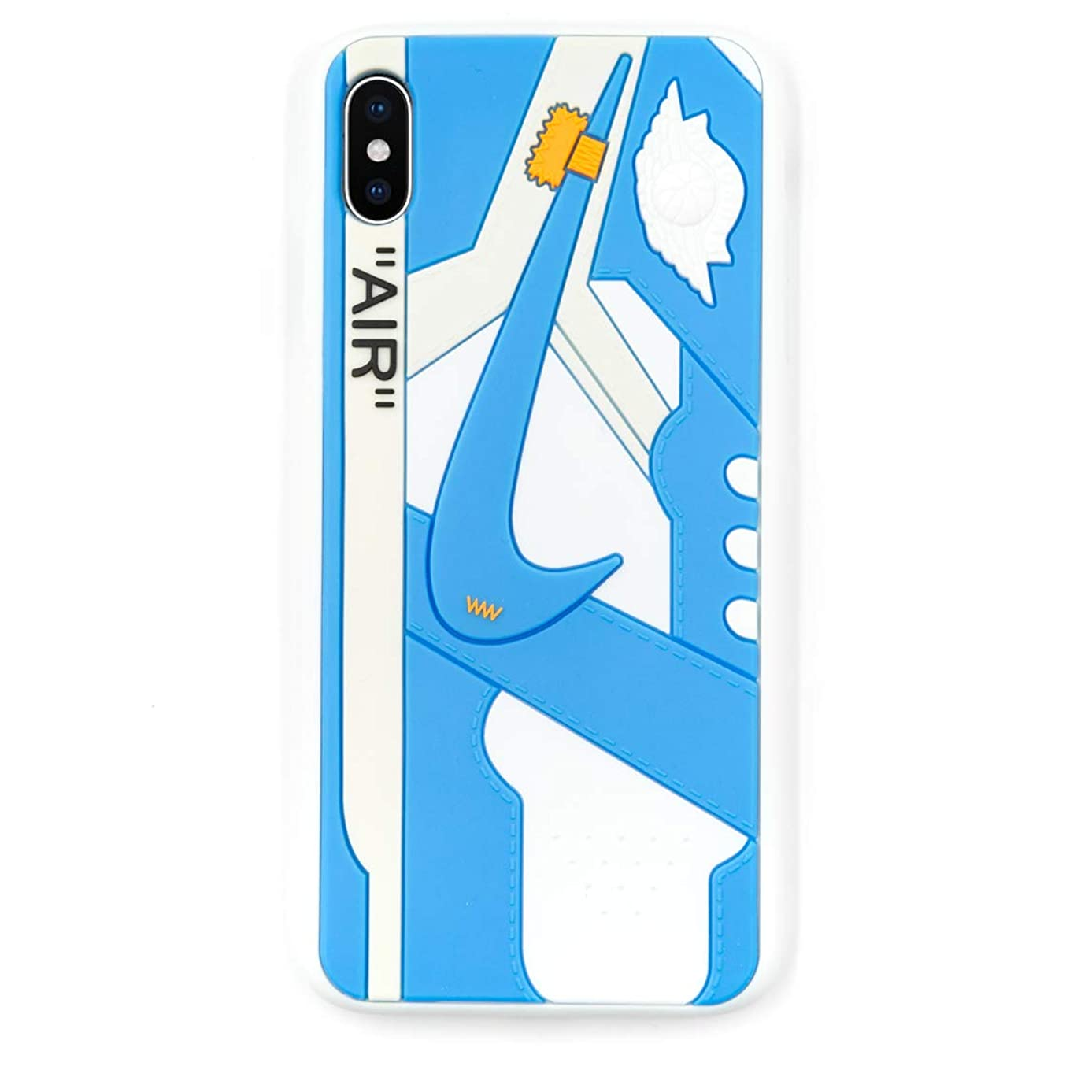 iPhone Shoe Case Chicago/White 1's Official 3D Print Textured Shock Absorbing Protective Sneaker Fashion Case (iPhone 7+/8+)