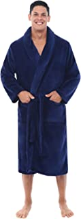 Men's Warm Fleece Robe, Plush Bathrobe