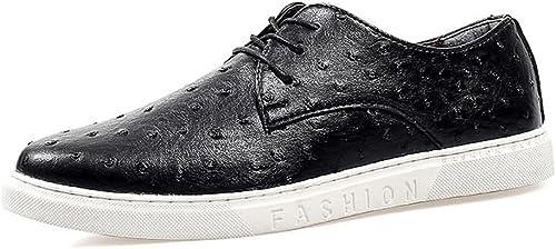 CHENDX Chaussures, Mocassins Ultra-Plats à la Mode Mode pour Hommes, Style décontracté - La Tendance Britannique est Le Mocassin Plat pour Bateau (Couleur   Noir, Taille   40 EU)  sports chauds