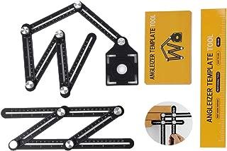 アルミ合金製 自由スコヤ 2個 セット ( 六角定規 / 四角定規 ) ケガキ 作業 測定 DIY 大工 道具
