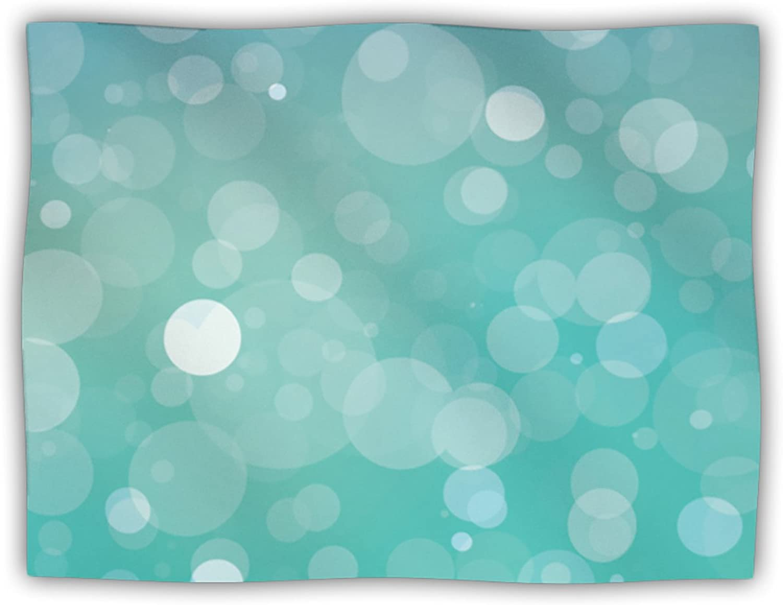 Kess InHouse KESS Original 'Let it Go' Aqua Bokeh Dog Blanket, 40 by 30Inch