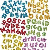 Baker Ross Lettere Autoadesive Glitterate in Gommapiuma (confezione da 850)