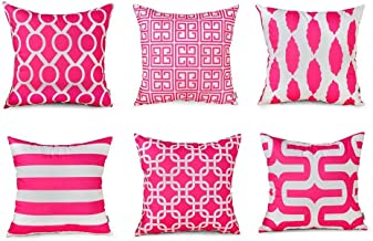 Topfinel Square Decorative Cushion Covers Soft Microfiber Outdoor Throw Pillow Covers 18 X 18 for Sofa Bedroom, 45 x 45cm,...