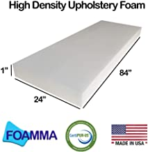 1-Pack FOAMMA 3 x 20 x 20 HD Upholstery Foam High Density Foam Chair Cushion Square Foam for Dinning Chairs, Wheelchair Seat Cushion Replacement