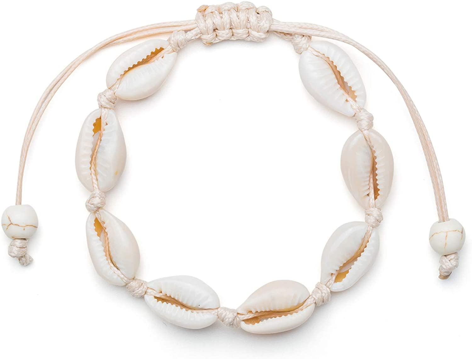 Fesciory Fashion Puka Shell Anklet for Women Cowrie Max 90% OFF Natural Adjus Summer