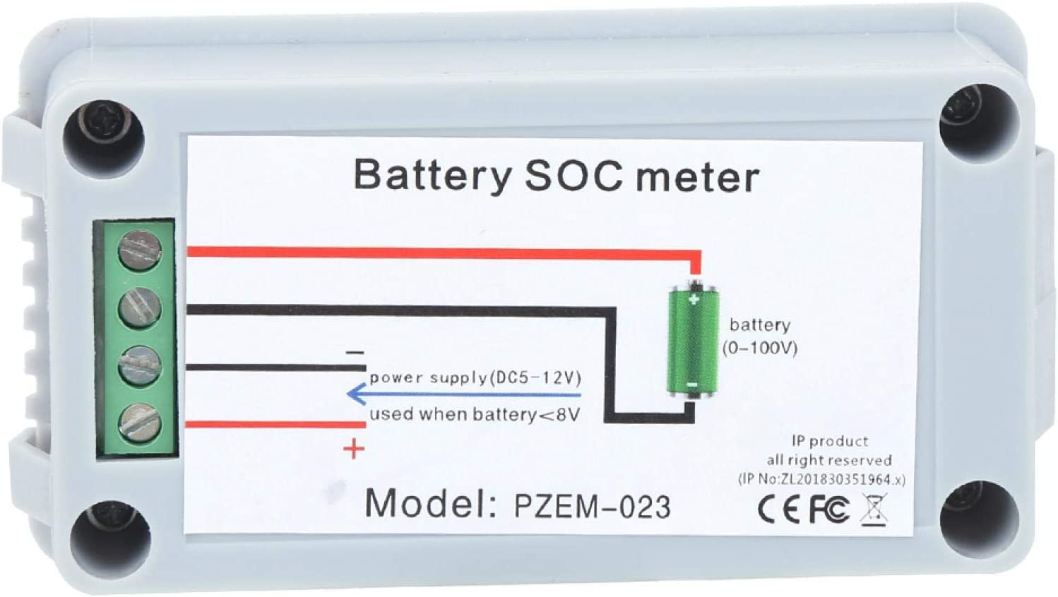 Battery Capacity Tester, Battery Capacity Meter, Simple Wiring Without Interference Stable Working Color Printing LCD Screen for Home Inverter Power Systems