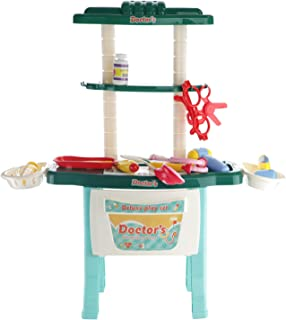Play Brainy Adorable Doctor Work Bench for Kids   Medical Activity Center Workshop with Accessories Like Thermometer, Stet...