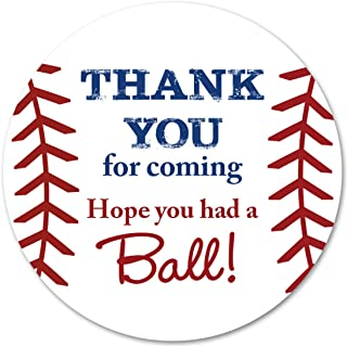 40 cnt Baseball Favor Thank You Stickers - Birthday Favor Stickers …