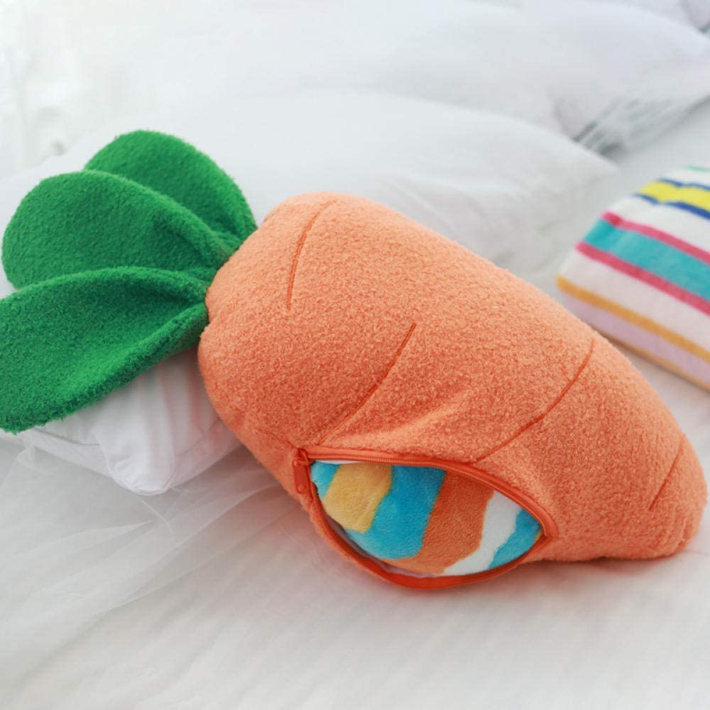 ZFCMIAO Soft Manufacturer regenerated product Push Carrot Cushion Portable Large-scale sale with for Blanket Easy