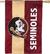 Team Sports America Collegiate Florida State University Embroidered Logo Applique House Flag, 28 x 44 inches Indoor Outdoo...