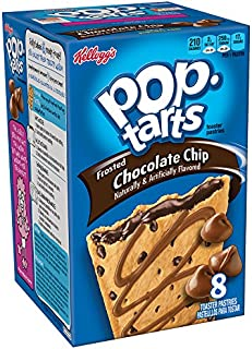 Pop-Tarts BreakfastToaster Pastries, Frosted Chocolate Chip Flavored, Bulk Size, 64 Count (Pack of 8, 14.7 oz Boxes)