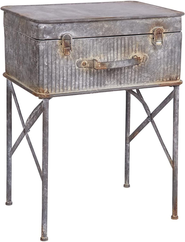 Foreside Home & Garden FFUT01339 Devon Suitcase Side Table