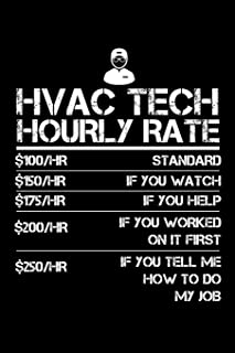 HVAC Tech Hourly Rate: Small Business Planner 6 x 9 100 page to organize your time, sales, profit, ideas and notes.