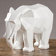 XINHU Creative Geometrische Origami Resin Animal Olifant Ornamenten TV kabinet Desktop Decoration Decoratie Ambachten (Col...