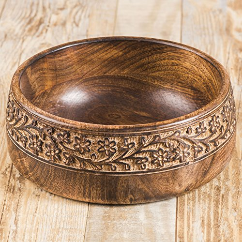 Rusticity Wood Serving Bowl/Salad Bowl|Mango Wood|Handmade-Carved|(7in)