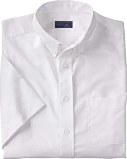 Signature Collection Men's Big & Tall Signature Collection Wrinkle-Resistant Short-Sleeve Oxford Dress Shirt