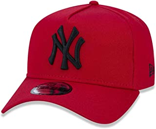 BONE 9FORTY A-FRAME ABA CURVA AJUSTAVEL MLB NEW YORK YANKEES ABA CURVA SNAPBACK VERMELHO NEW ERA
