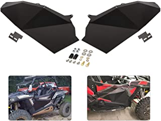 GOOFIT Espejo Retrovisor Moto Manillar 44mm Universal Con Adaptador 1 Piezas para UTV Polaris RZR 800 1000 S 900 XP 1000 ATV Quad Bicicleta Negro