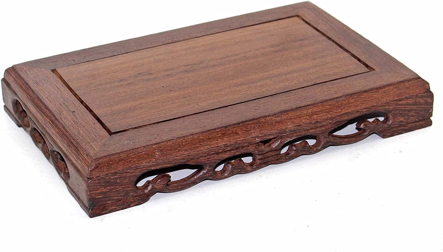 GOLDYWENDY Chinese Wooden Reservation Display Stand Surprise price Carved Solid W Mahogany