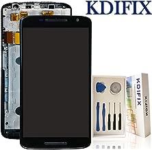 KDIFIX for Motorola Moto X Play XT1561 XT1562 XT1563 LCD Touch Screen Assembly + Frame with Full Professional Repair Tools kit (Black+Frame)