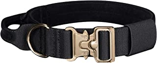 EXCELLENT ELITE SPANKER Tactical Dog Collar Velvet Fabric Padded Dog Collar Adjustable Military Dog Collar with Control Handle 1.5