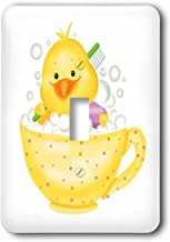 3dRose lsp_237135_1 Adorable Yellow Chick Bathing in a Polkadot Tea Cup Single Toggle Switch