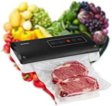 Aucma Vacuum Sealer, 75 Kpa Powerful Automatic & Manual Food Saver Vacuum Packing Machine with Cutter & Starter Kit for Home & Commercial Use