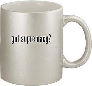got supremacy? - Ceramic 11oz Silver Coffee Mug, Silver