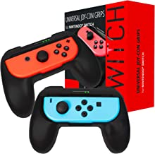 Orzly Grips Compatible with Nintendo Switch Joy-Cons for Extra Comfort - Twin Pack (2X Black) Universal Sided Grip Attachments for use with Nintendo Switch Joy-Cons