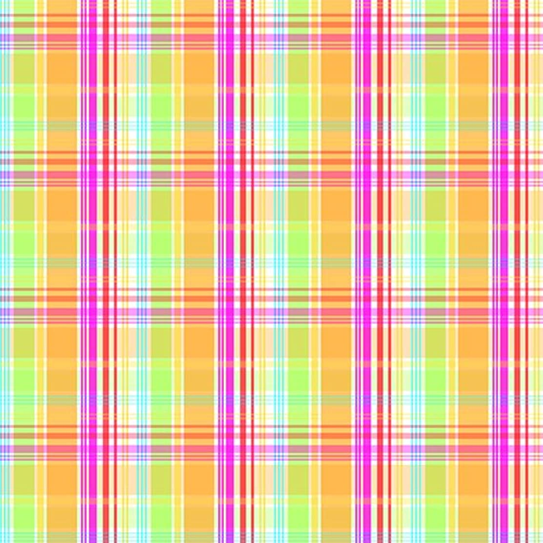 American Crafts 15 12 x 12 Inch Birthday Plaid Paper Pack by Die Cuts with a View, Piece