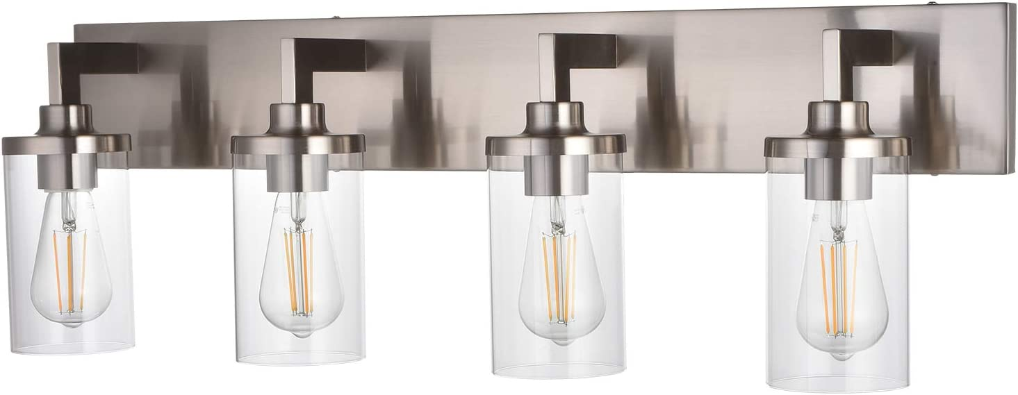 4 Light VINLUZ All items in the store Farmhouse Bathroom Brushed F Wall Easy-to-use Nickel