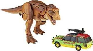 Transformers Generations Collaborative: Jurassic Park Mash-Up Tyrannocon Rex & Autobot JP93 Ages 8 and Up