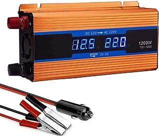 HJHNB Zócalos de inversor 600W-2600W 12/24/48/60/72 V DC a 220 V AC Convertidor Voltaje Onda sinusoidal Inversor Pantalla LCD camión automóvil, etc. Adaptador de Cargador, convertidor USB,24V-1200W