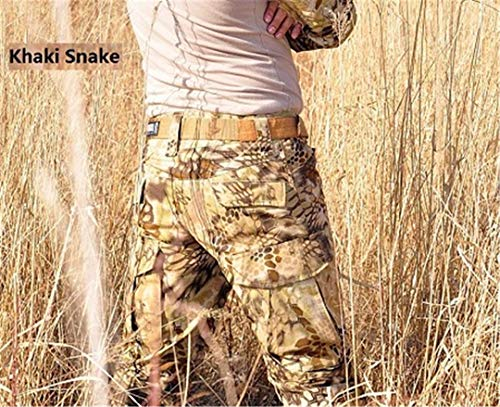 Camouflage Militar Tactical Pants Army Military Uniform Trouser ACU Airsoft Paintball Combat Cargo Pants Khaki Snake XXL