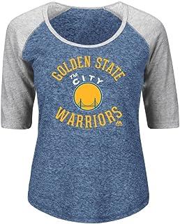 NBAレディースMajestic Athletics Vim and VerveラグランスクープネックTシャツ S ブルー