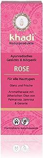 khadi Rose Körperöl 100ml I natürliche Hautpflege für jeden Tag I pflegt & glättet beanspruchte Haut I ayurvedisches Massageöl mit dem Duft ätherischer Öle I 100% pflanzlich