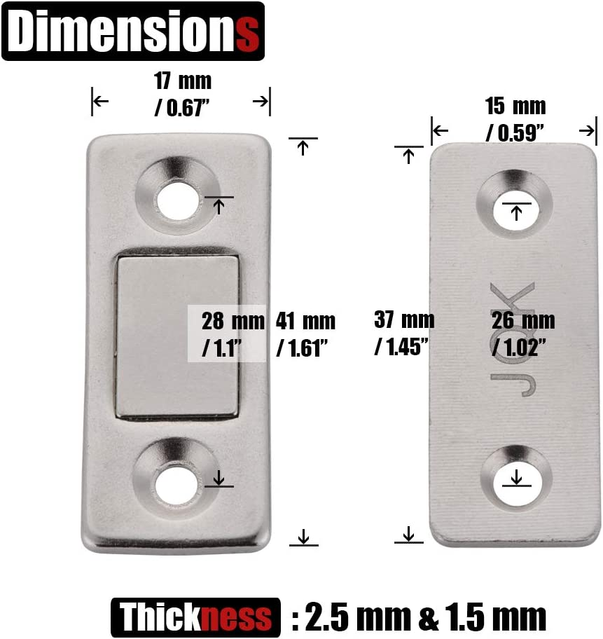 4 Pack Ultra Thin Magnetic Catch Furniture Latch for Sliding Door ...